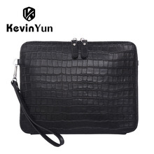 KEVIN YUN fashion luxury genuine leather men bag brand business male clutch bags handbag