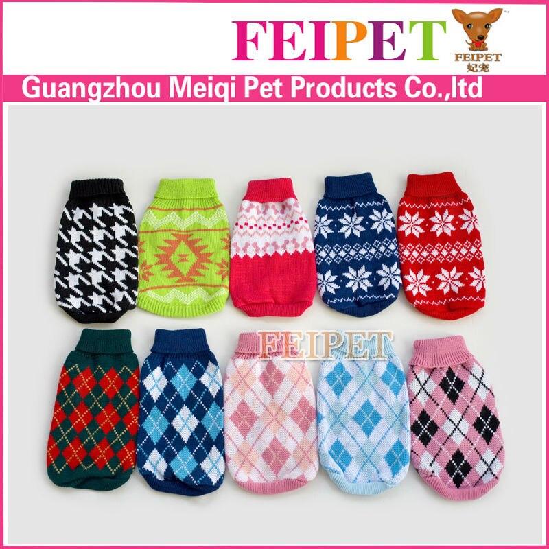 Free Shippingwinter Warm Knitting Dog Sweater Puppy Coat Apparel Pet