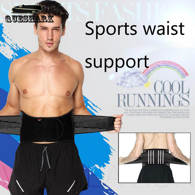 Men Women Adjustable Elastiac Waist Support Back Support Exercise Belts Brace Slimming Training Weightlifting Belt Waist
