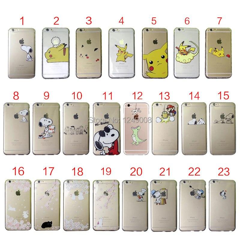 imágenes para Lindo Cachorro de Gato Bebé Conejo Clara Suave TPU Caso Para Cubrir iPhone 4 4S 5 5C 5S SE 6 6 S 7 Más