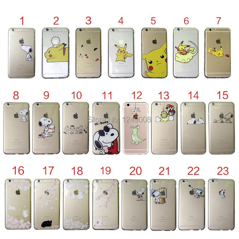 Цена за Милый щенок детские кошка кролик мягкий ясности TPU чехол для iPhone 4 4S 5 5C 5S SE 6 6 S 7 Plus
