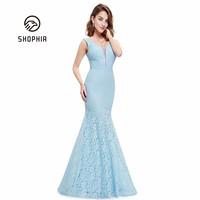 Deep V Backless Sexy Bodycon Long Dress Solid Color Mermaid Sharp Slim Party Club Dresses Elegant Lace Maxi Dress For Woman