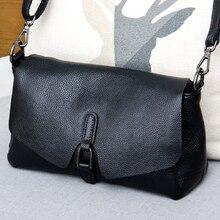 純粋な革のハンドバッグ 2019 新しい革メッセンジャーバッグ女性のファッション野生のテクスチャ第一層革ポータブルバッグ