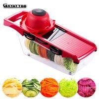 Creative Mandoline Slicer Vegetables Cutter With 5 Stainless Steel Blade Carrot Grater Onion Dicer Slicer Kitchen