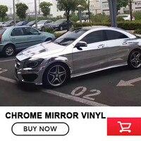 Silver Chrome Vehicle Vinyl Wrap Air Bubble Super Durable Flexible For Bmw E36 For Benz Small
