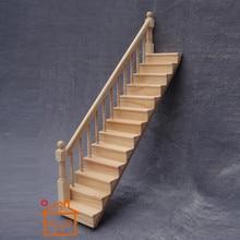 Деревянные маленькие лестницы 1:12 мини кукольный домик, имитация лестницы дом лестница декор для кукольного дома гостиная аксессуары M50