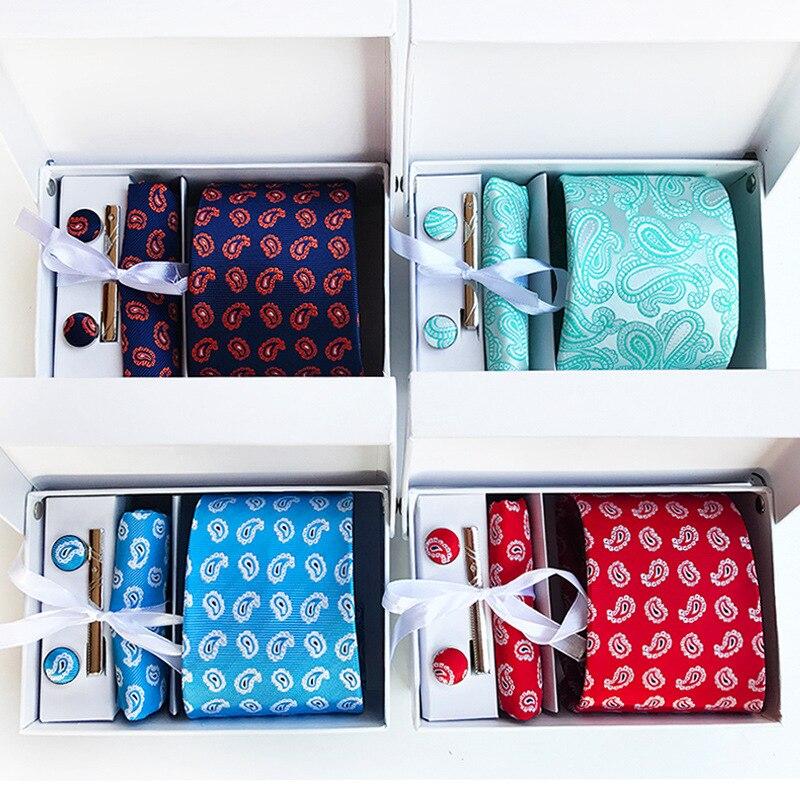20 farben Mode Breite Krawatte Sets Klassische Cashew männer Seide ...