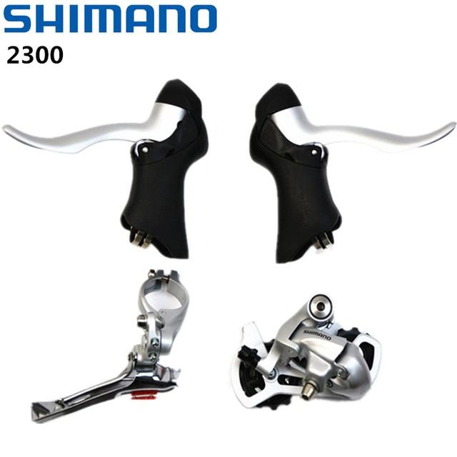 e4fe8941d9f Shimano 2300 Groupset 2x8 Speed Road Bike STI Gear&Brake Shifter Lever ST- 2300, FD-2300 RD-2300 Derailleur Shifters Mini Set