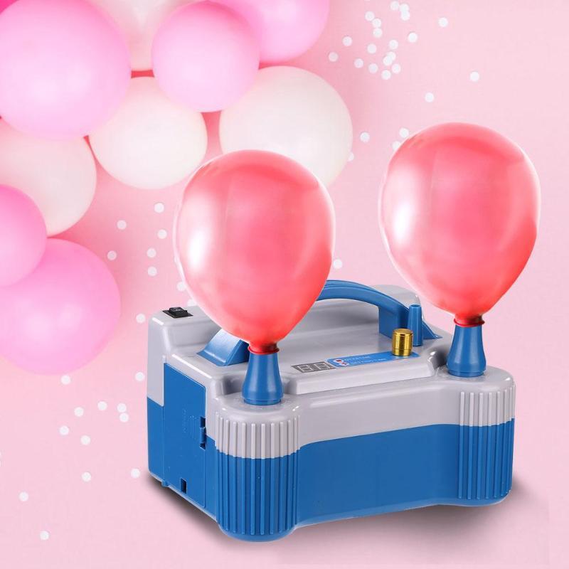 Double trou gonflable électrique ballon à Air pompe gonfleur Air ventilateur pompe Portable ventilateur à deux chiffres affichage débit d'air taille