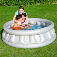 Bestway 152*43CM Round Inflatable Swimming Pool Safe Non toxic Play Pool Foldable Inflatable Bathtub Infant Sand Pool With Pump