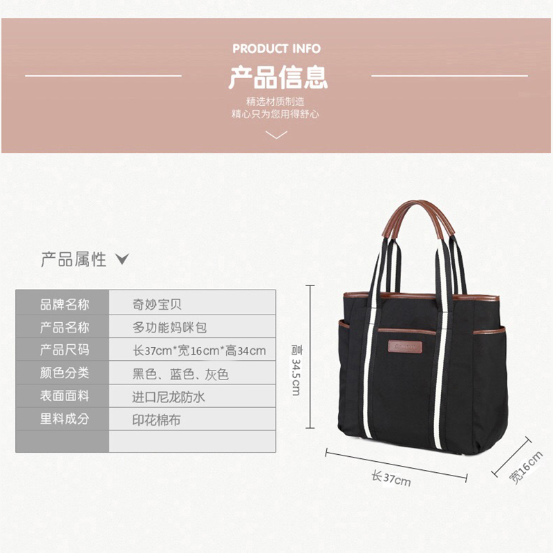 2019 New Multi function Mummy Bags Baby Diaper Bags Mommy Bags Commuter Bags Large Capacity Waterproof Fashion and Durable in Diaper Bags from Mother Kids