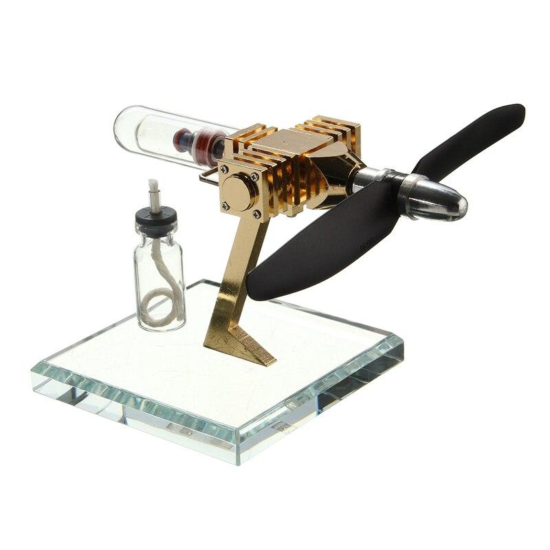 Tout nouveau générateur de puissance de moteur d'air d'avion innovant Stirling moteur Science jouets éducatifs pour enfants Version jouet pour enfants