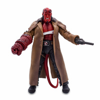 18CM HB Wounded Hellboy Includes Samaritan Handgun PVC Action Figure Toy Movie Cartoon Role Collectible Model Doll For Kids Gift
