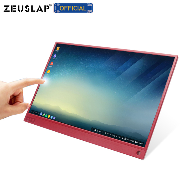 15.6-inch Touching Portable Monitor 1920x1080 FHD HDR IPS Display Gaming Monitor with Leather Case 5