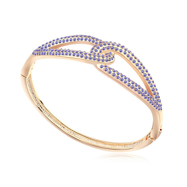 Btime Vintage Gold Plate Bracelets amp Bangles  Crystal Weaving Dreams Design Bangle Women Gift Jewelry Crystals From Swarovski