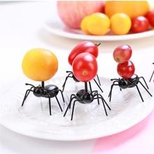 12 шт. фрукты вилка Ant Форма зуб Палочки для закуски, пирога, десерта посуда для дома Кухня вечерние ужин фрукты Палочки Кухня аксессуары