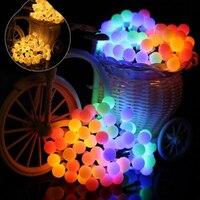 AC 220V 50M 400LEDS Led Light with Small White Ball Holiday Garden Decoration Fairy Light Festival Christmas Wedding Lights
