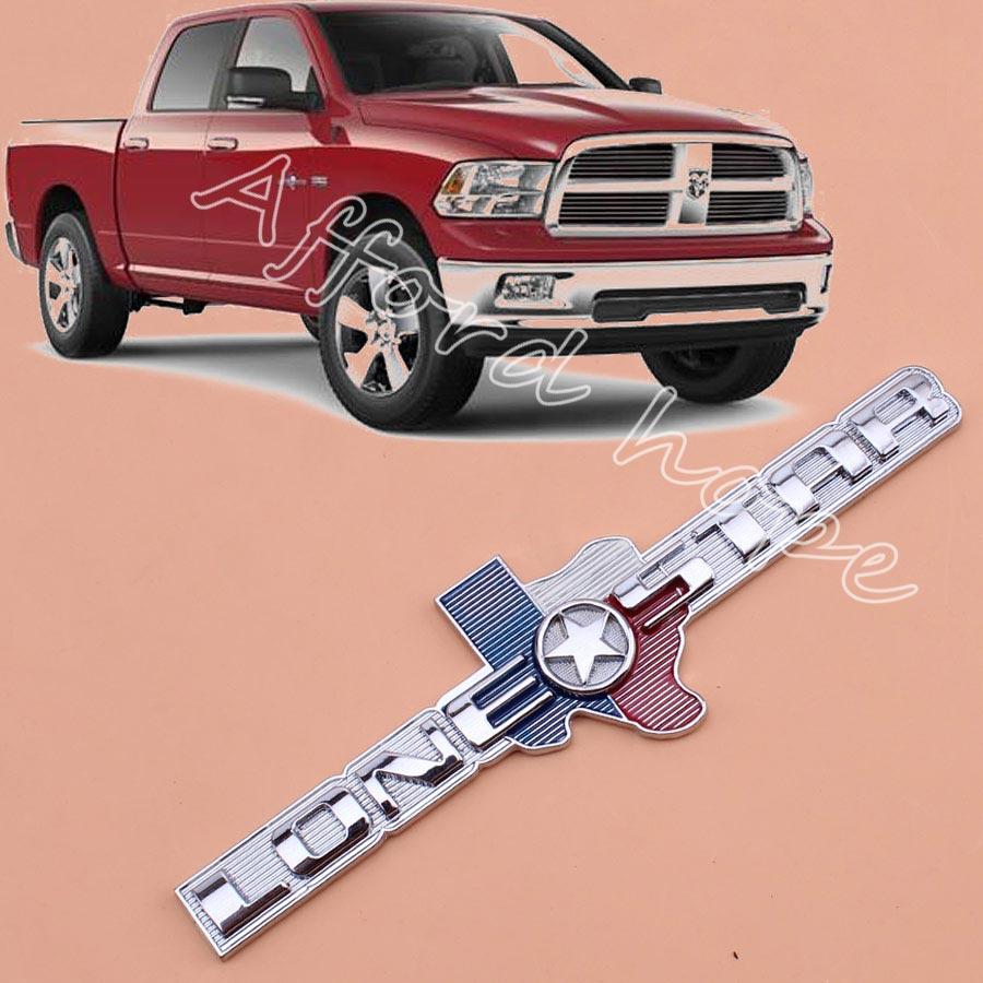 Car styling 3d metal decal sticker badge texas lonestar edition emblem for dodge ram truck lone star 1500 2500 3500 chevrolet