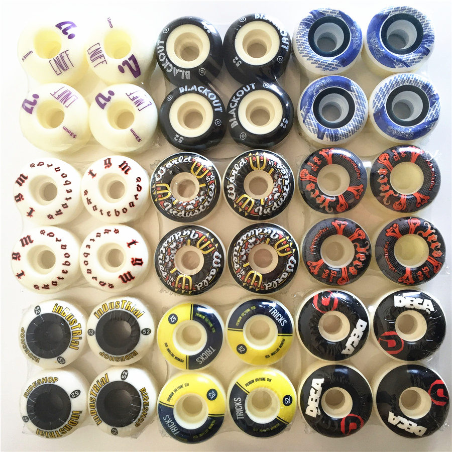 4pcs/Set 51-54mm SKATEBOARD WHEELS Pro Stock Wheel For Special Offer With Good Price