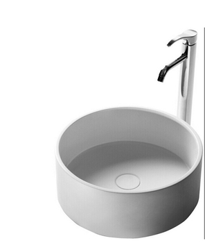 Round Vessel Sink | Round Bathroom Corain Solid Surface Stone Counter Top Vessel Sink Fashionable Cloakroom Stone Washbasin RS3873-1733
