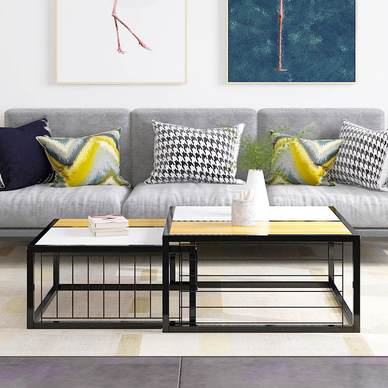 Minimalist living room coffee table Small apartment Side Table Multifunctional Creative sofa table Side Table Home Furniture minimalism iron tea table creative small end table sofa side coffee table living room furniture