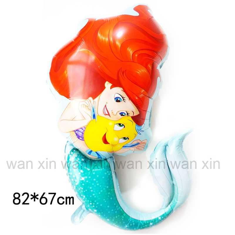 New Ariel foil balões grandes 82*67 cm um pouco sereia hélio balões crianças brinquedos para presente de aniversário da sereia balões de hélio