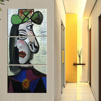 3 Pieces Frameless Abstrct Picasso Painting Art Canvas Prints Wall Pictures For Living Room Home Decoration