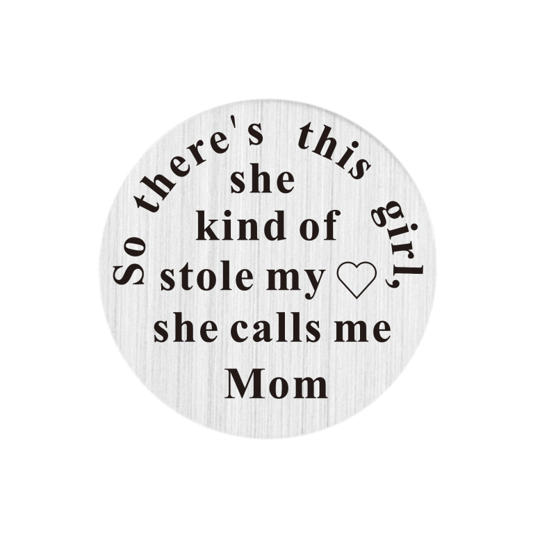 22mm Window Plates so theres this girl,she kind of stole my love she calls me Mom Stainless Steel Floating locket Plate 5 pcs