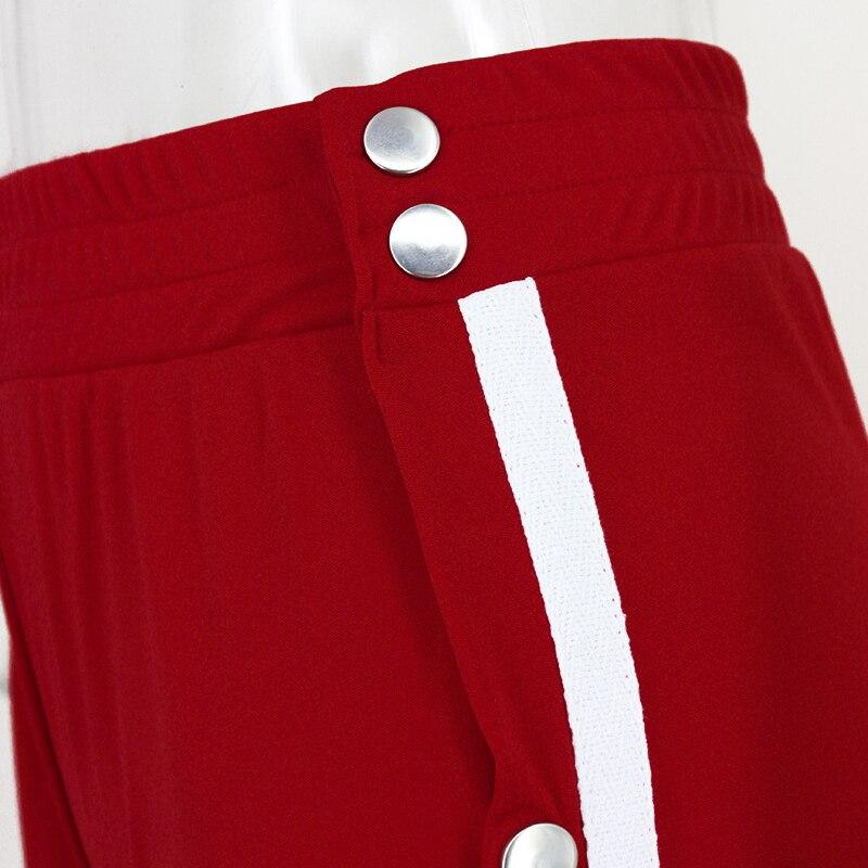 HTB1vkdBSpXXXXa2aFXXq6xXFXXXW - Red button track pants runway Women's wide leg trousers casual pants JKP012