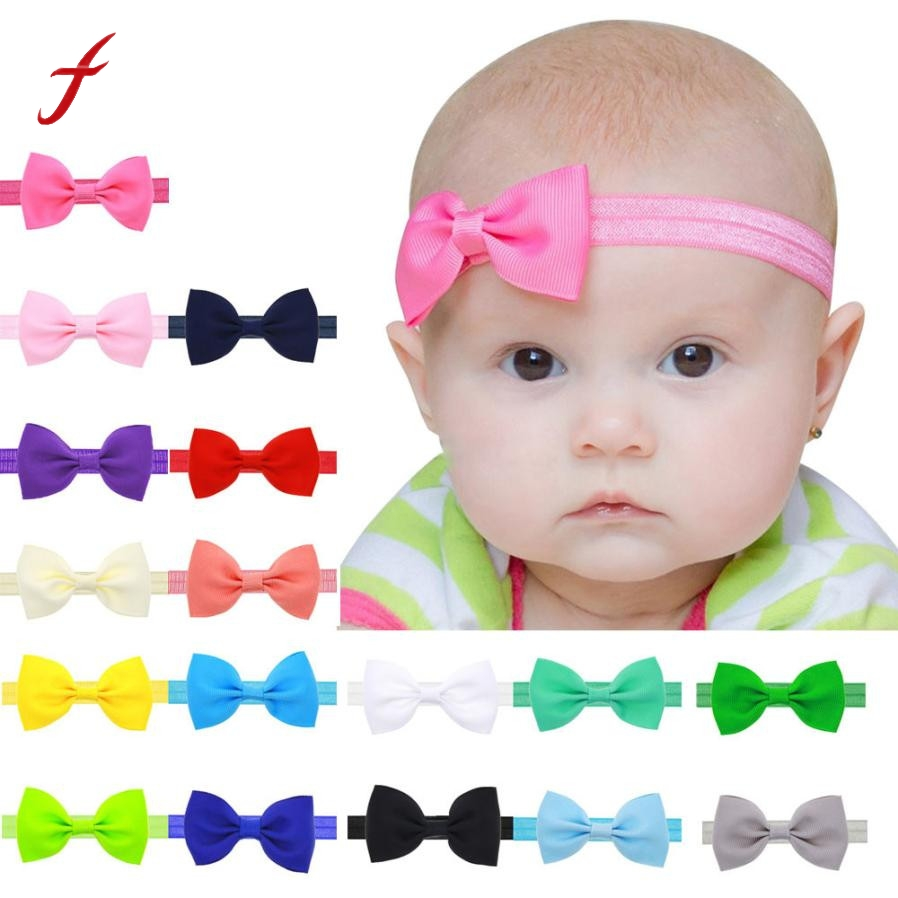 2017 ulticolor Bowknot Mini Headbands girl hair accessories Kids Girls Mini Bowknot cute Hairband Elastic floral headband delicate hot 2016 fashion baby new lovely baby kids girls mini bowknot hairband elastic headband ju15