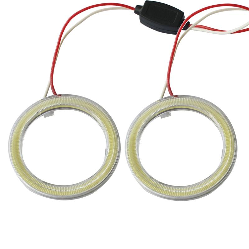 Par 12 V Halo Anéis Olhos de Anjo COB LED iluminação de realce - Faróis do carro - Foto 1