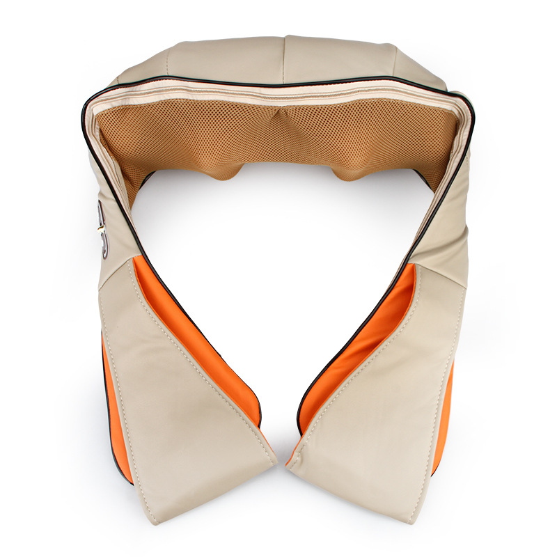 JORZILANO Back Massage U Shape Electrical Shiatsu Back Neck Shoulder Massager Pillow Infrared Hot Compress Car home Massage soft u shape cushion journey from watermelon kiwifruit orange fruit cushions tourism neck pillow autotravel pillows new hot