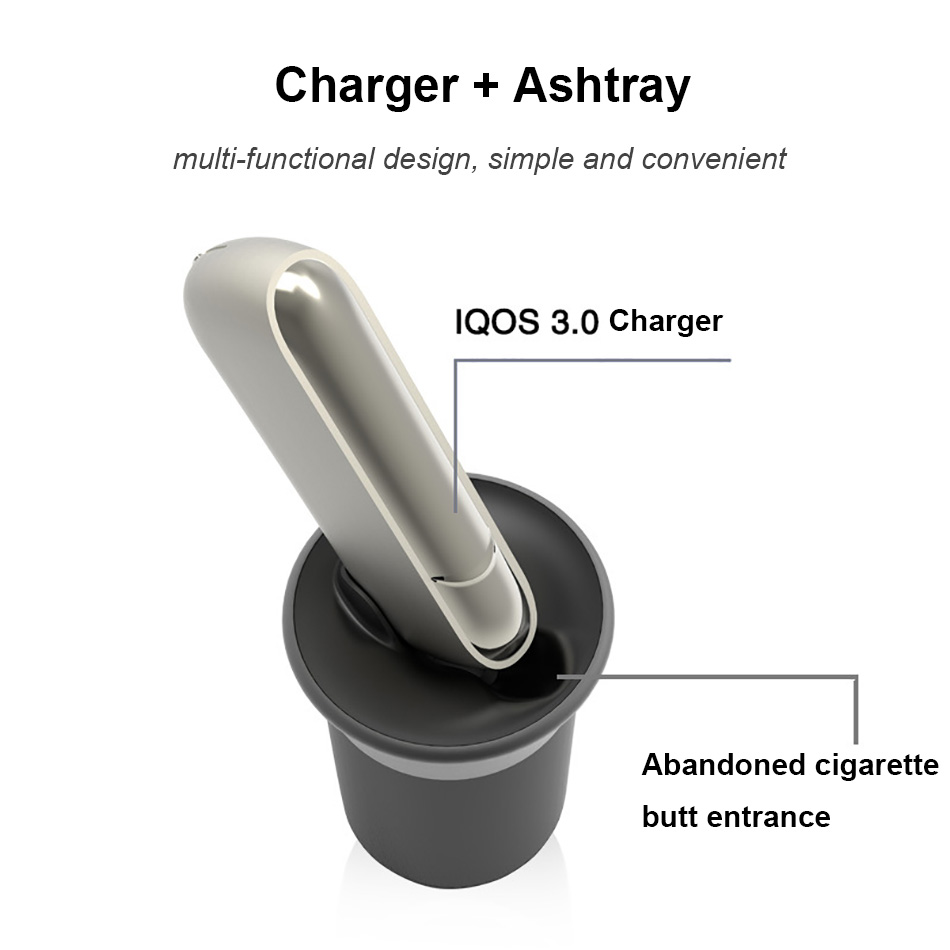 Original Electronic Cigarette Multifunctional Car Charger for IQOS 3.0 charger Intelligent e-cig usb charger iqos accessory