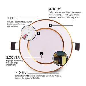 Image 4 - Точечный светодиодный светильник, потолочные лампы, круглая утопленная лампа, 3 Вт, 6 Вт, 10 Вт, 12 Вт, 15 Вт, светодиодный комнатный Точечный светильник, AC 110 В, 220 В, 230 В, 240 В