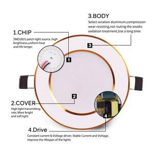 Image 4 - مصابيح سبوت Led للإضاءة السفلية مصابيح إضاءة دائرية 3 وات 6 وات 10 وات 12 وات 15 وات Led داخلية إضاءة ساقطة AC 110 فولت 220 فولت 230 فولت 240 فولت