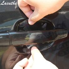 4pcs/lot Car Handle Protection Film Universal Invisible Car Door Handle Stickers Scratches Resistant Sticker 4pcs lot handle protection film car sticker exterior transparent sticker automotive auto accessories car styling