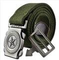 Ventas calientes de Los Hombres de la Correa Militar de Lona con Hebilla Automática cintos cinturon Directo de Fábrica Al Por Mayor El Envío libre