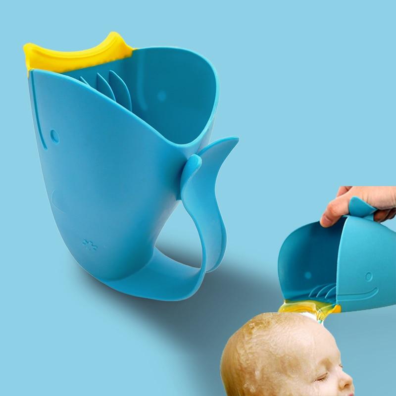 Baby Bath Cap Kids Washing Hair Shampoo Cute Cartoon Whale C