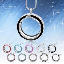 Diymédaillon 10 pièces 30mm rond torsion vivant médaillon de haute qualité flottant charme médaillon (chaînes incluses gratuitement) LSFL024 * 10