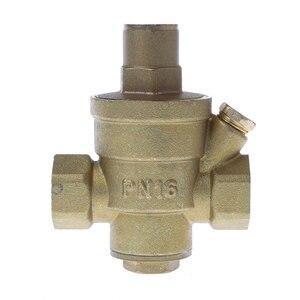 """Image 3 - Válvula reguladora de pressão dn15 1/4 """"dn25, válvula ajustável de latão para redução de pressão e envio gratuito"""