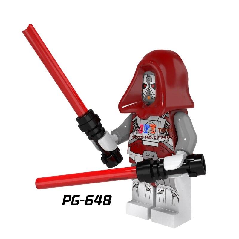 Single Sale star wars superhero Sith Warrior Jedi Defender building blocks model bricks toys for children brinquedos menino