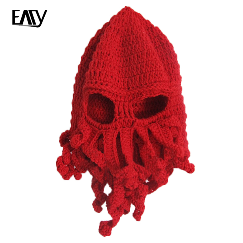 9 Colors Casual Beanies Skullies Warm Knitted BomHCS Wholesale Funny Tentacle Octopus Cthulhu Knit Beanie Hat Cap Wind Mask skullies