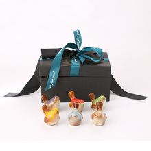 6  Pieces ceramic bird gift box decoration party DIY ribbon exquisite for home wedding