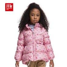 Filles manteau enfants hiver vers le bas veste imprimé floral outwear pour les filles de coton-rembourré hiver outwear épais à capuche pour enfants