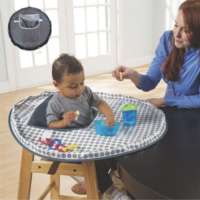 Infant Feeding Chair Gray Outdoor Covers Baby High Seat Cover Mat Waterproof Eating Place