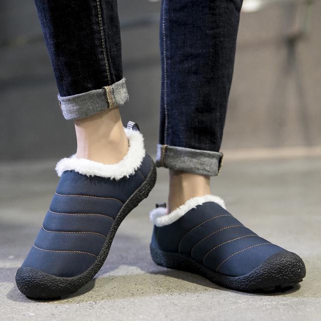 38-46 Winter Slippers Men Plush Warm Men Slippers Outdoor Winter Shoes Men Big Size