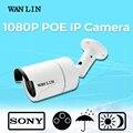 Wanlin 2.0mp sony imx323 1080 p vídeo câmera de vigilância poe ip camera 3 pcs matriz de led à prova d' água ao ar livre 40 metro noite visão