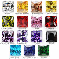 1PCS Per Colori Totale 15pcs Formato 4x4mm ~ 10x10mm Quadrato Forma Sciolto cubic Zirconia Pietra