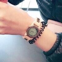 BOBO de AVES Octágono de Dos colores Señoras Relojes De Madera CdM25 Horas para Las Mujeres de Primeras Marcas de Lujo en Caja de Regalo