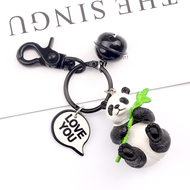 2019 The New Creative cute cartoon keychain Metal jewelry Animal Panda Keychain Girls bag ornaments accessories Gift in Key Chains from Jewelry Accessories